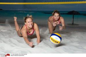 Beachvolleyball-Team Koehler-Schumacher